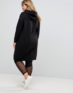 photo Hooded Sweat Dress by New Look Curve, color Black - Image 2