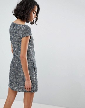 photo Printed Shift Dress by See U Soon, color Navy - Image 2