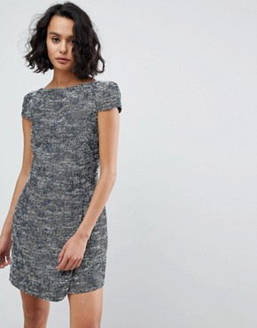 photo Printed Shift Dress by See U Soon, color Navy - Image 1