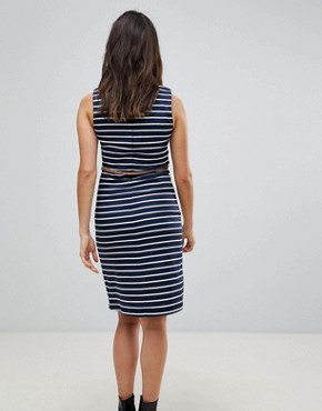photo Striped Dress with Belt by Vero Moda, color Black Iris - Image 2