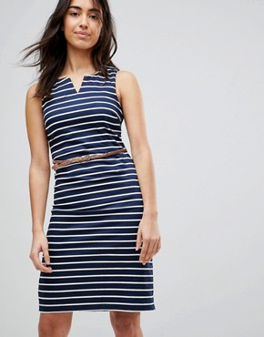 photo Striped Dress with Belt by Vero Moda, color Black Iris - Image 1