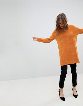 photo Jumper Dress in Chenille by ASOS, color Apricot - Image 1