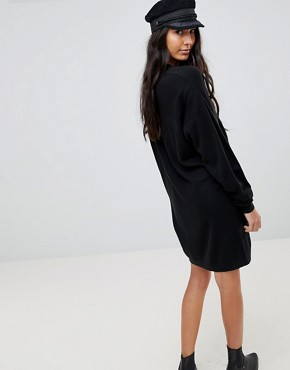 photo Knitted Oversized Crew Neck Dress by ASOS TALL, color Black - Image 2