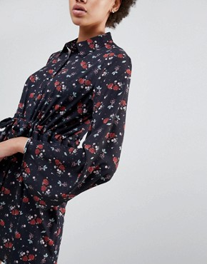 photo Bell Sleeve Printed Shirt Dress by Unique 21, color Floral - Image 3