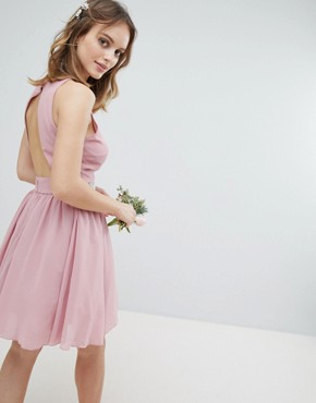 photo Embellished Midi Bridesmaid Dress with Full Prom Skirt by TFNC Petite, color Vintage Rose - Image 2