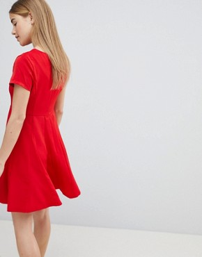 photo Skater Dress by Louche, color Red - Image 2