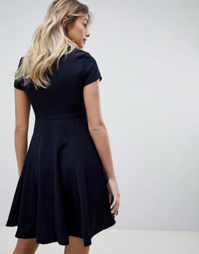 photo Skater Dress by Louche, color Navy - Image 2