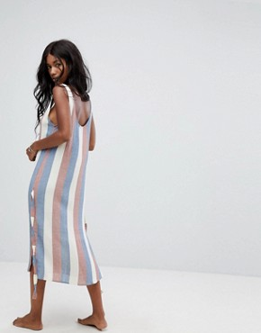 photo Stripe Ribbon Beach Dress by Zulu & Zephyr, color Stripe - Image 2