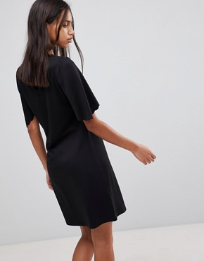 photo Sulaima Mutton Sleeve Dress by Y.A.S, color Black - Image 2