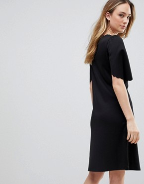 photo Sulaima Mutton Sleeve Dress by Y.A.S Tall, color Black - Image 2
