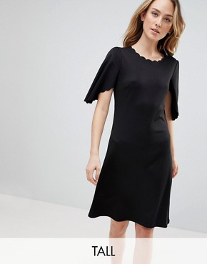 photo Sulaima Mutton Sleeve Dress by Y.A.S Tall, color Black - Image 1