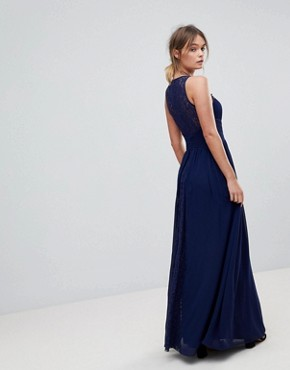 photo Maxi Dress with Embellishment by Little Mistress, color Navy - Image 2