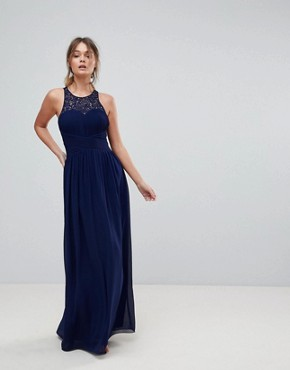 photo Maxi Dress with Embellishment by Little Mistress, color Navy - Image 1
