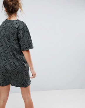 photo T-Shirt Dress in Leopard Print by ASOS ULTIMATE, color Leopard Print - Image 2