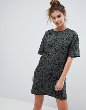 photo T-Shirt Dress in Leopard Print by ASOS ULTIMATE, color Leopard Print - Image 1