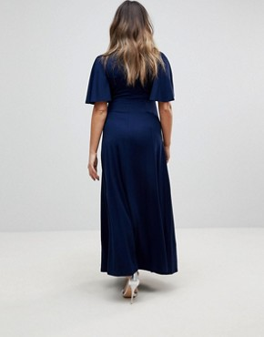 photo Kimono Maxi Dress by ASOS Maternity, color Navy - Image 2