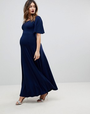 photo Kimono Maxi Dress by ASOS Maternity, color Navy - Image 1