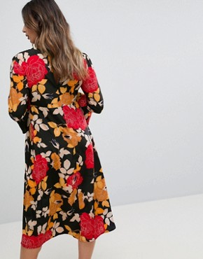 photo Column Midi Dress in Floral Print by ASOS Maternity, color Multi - Image 2