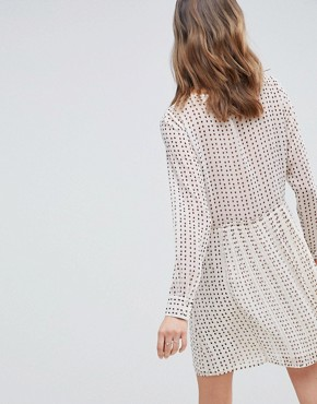 photo Jane Printed Smock Dress by Deby Debo, color Off White - Image 2