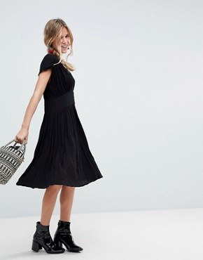 photo Casual Midi Tea Dress by ASOS, color Black - Image 1