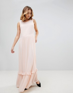 photo Nora Sleeveless Maxi Dress by Selected, color Cream - Image 1