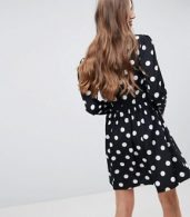 photo Tea Dress in Large Spot Print by ASOS DESIGN Tall, color Spot - Image 2