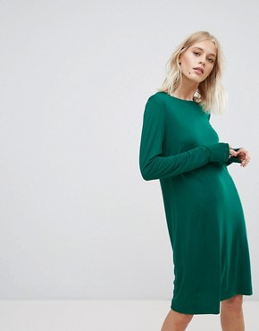 photo Column Dress by Weekday, color Green - Image 1