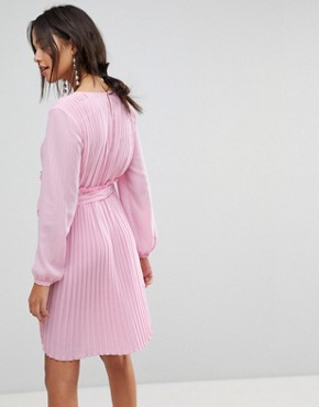 photo Candy Pink Ruffle Dress by MAX&Co, color Lilac - Image 2