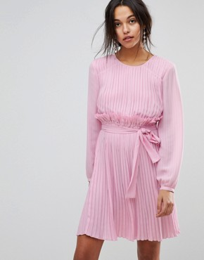 photo Candy Pink Ruffle Dress by MAX&Co, color Lilac - Image 1