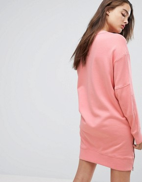 photo Sweat Dress with Arm Logo Detail by G-Star, color Cactus Pink - Image 2