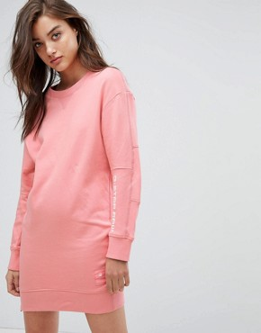 photo Sweat Dress with Arm Logo Detail by G-Star, color Cactus Pink - Image 1