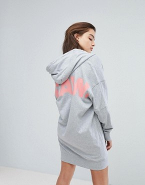 photo Zip Through Hooded Dress by G-Star, color Grey - Image 2