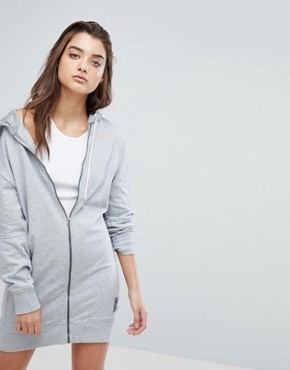 photo Zip Through Hooded Dress by G-Star, color Grey - Image 1