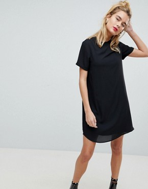 photo Sheer Shift Mini Dress by ASOS, color Black - Image 1