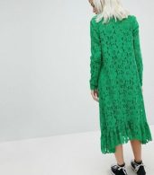 photo Lace Midi Swing Dress by ASOS, color Green - Image 2
