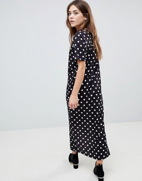 photo T-Shirt Maxi Dress in Polka Dot by ASOS ULTIMATE, color Polka Dot - Image 2