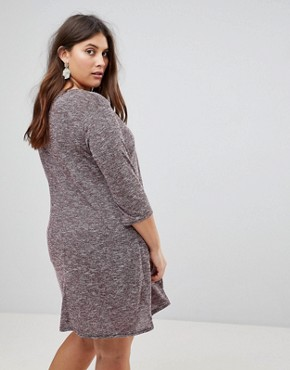photo Longline Tunic Dress by New Look Curve, color Burgundy - Image 2