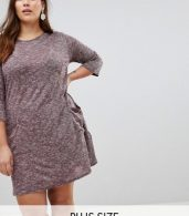 photo Longline Tunic Dress by New Look Curve, color Burgundy - Image 1