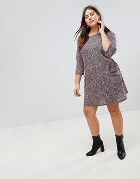 photo Longline Tunic Dress by New Look Curve, color Burgundy - Image 4