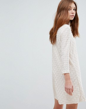 photo Long Sleeve Dress by Oeuvre, color Apricot - Image 2