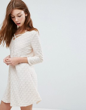 photo Long Sleeve Dress by Oeuvre, color Apricot - Image 1