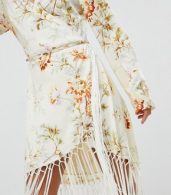 photo Wrap Dress in Floral Print with Fringe Detail by ASOS DESIGN, color Floral Print - Image 3