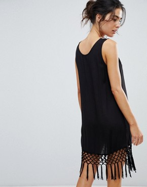 photo Tassel Detail Beach Dress by Akasa, color Black - Image 2