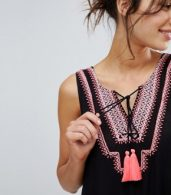 photo Tassel Detail Beach Dress by Akasa, color Black - Image 3