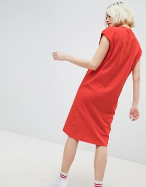 photo Midi Dress with Small Logo Detail by Champion, color Red - Image 2