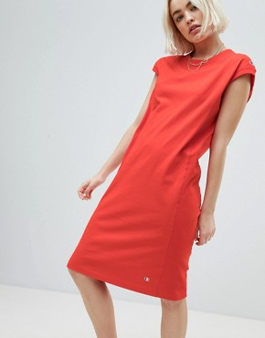 photo Midi Dress with Small Logo Detail by Champion, color Red - Image 1