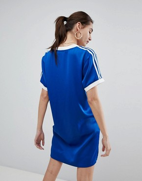 photo Fashion League Dress in Blue by adidas Originals, color Blue - Image 2