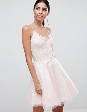 photo Strappy Lace Dress by AX Paris, color Pink - Image 1
