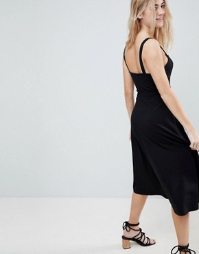 photo Midi Cotton Sundress with Cups by ASOS, color Black - Image 2