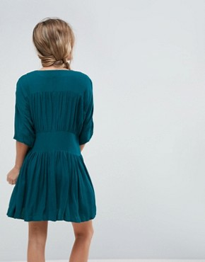 photo Casual Mini Tea Dress by ASOS, color Teal - Image 2